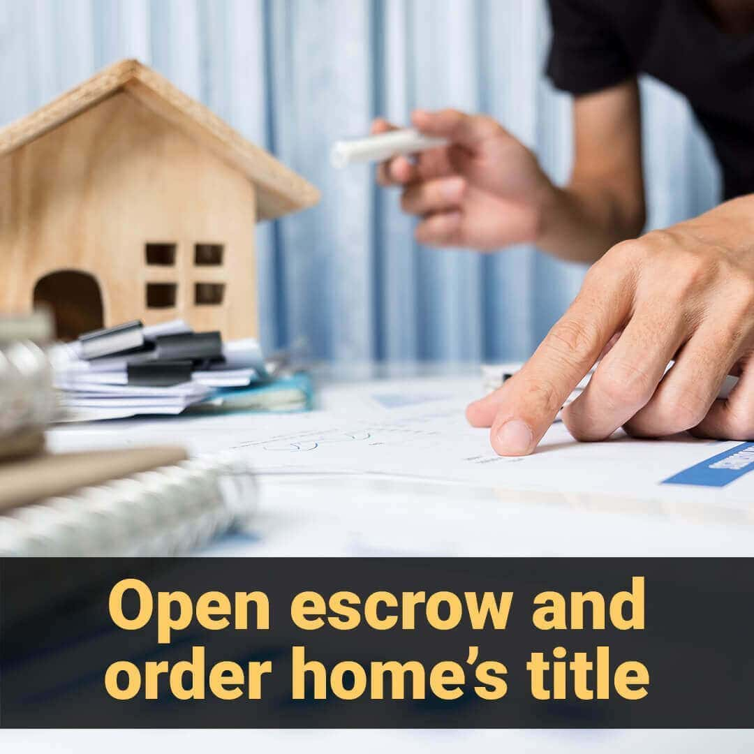 Open escrow and order home's title