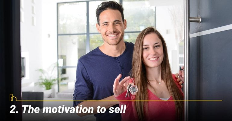 The motivation to sell