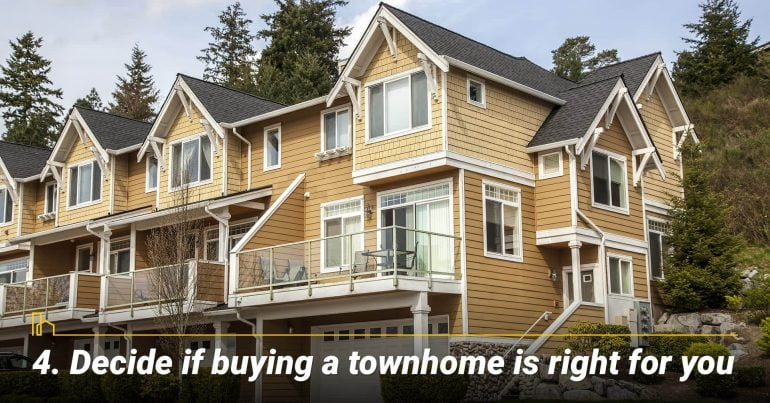 Decide if buying a townhome is right for you