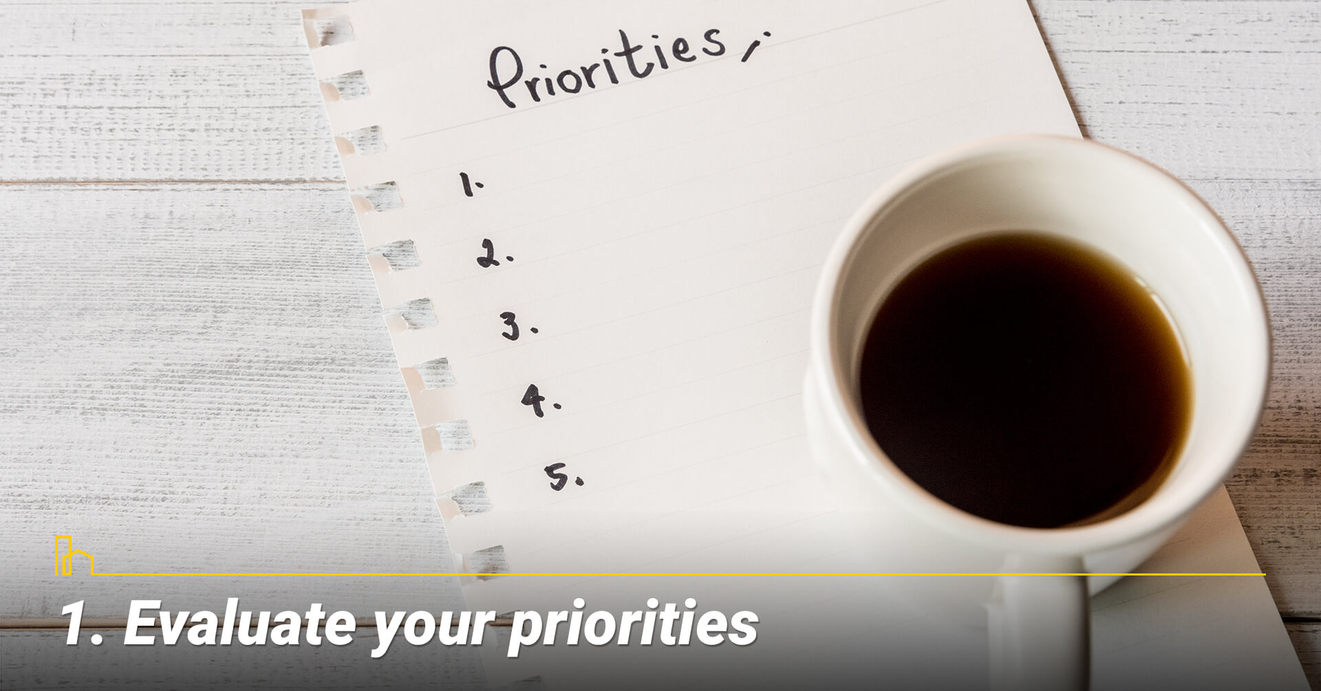 Evaluate your priorities, know what your needs and wants