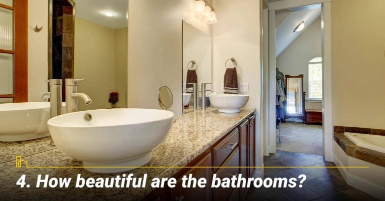 How beautiful are the bathrooms?