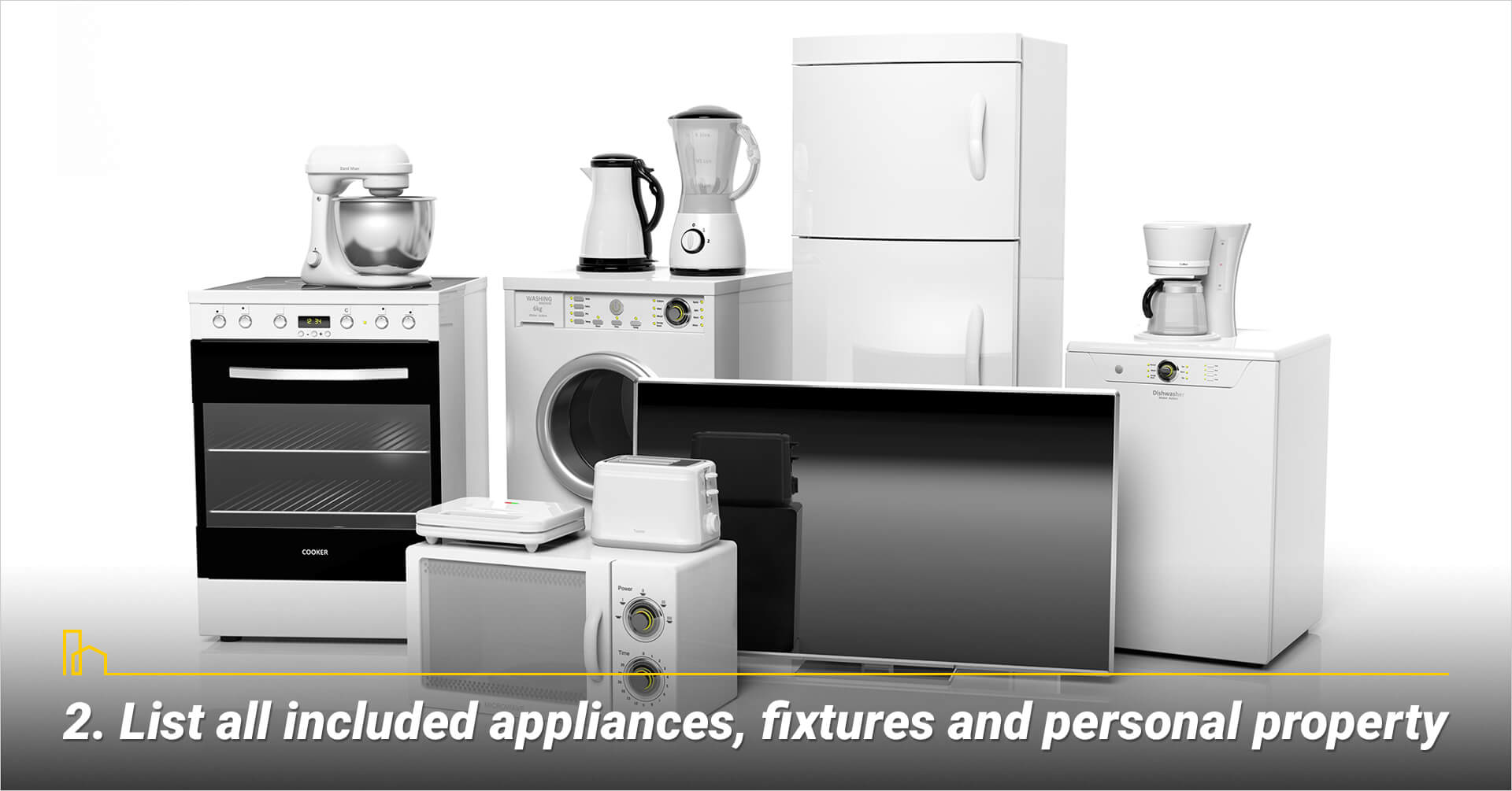 List all included appliances, fixtures and personal property
