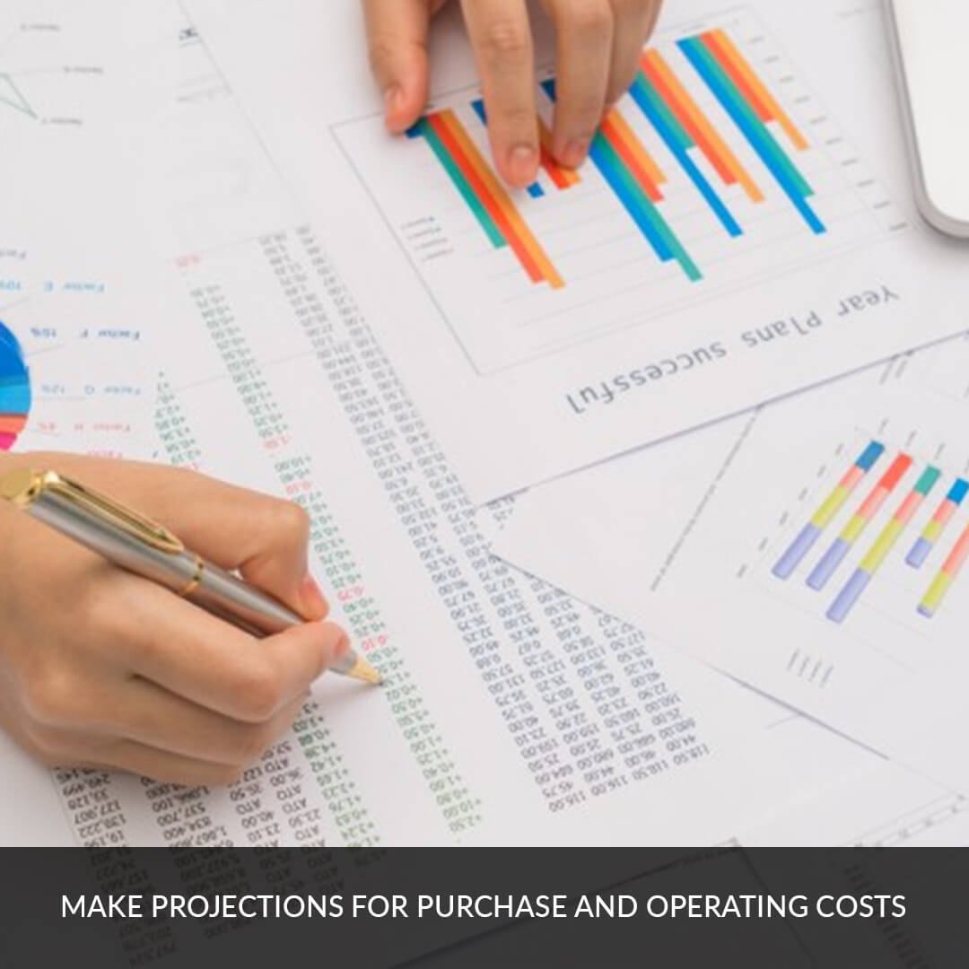 Make projections for purchase and operating costs