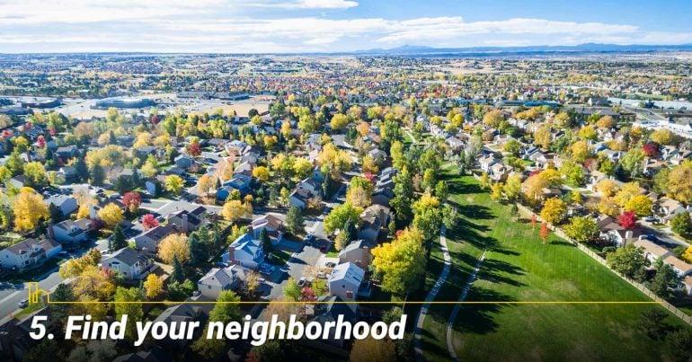 Find your neighborhood