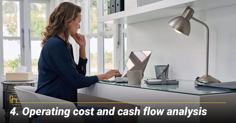 Operating cost and cash flow analysis