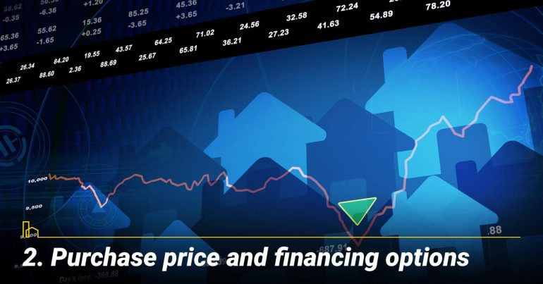 Purchase price and financing options