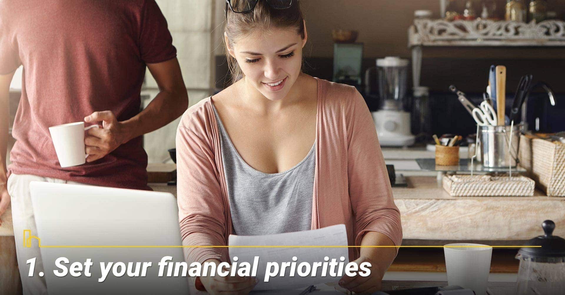 Set your financial priorities