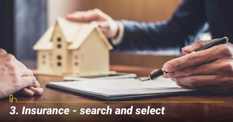 Insurance — search and select