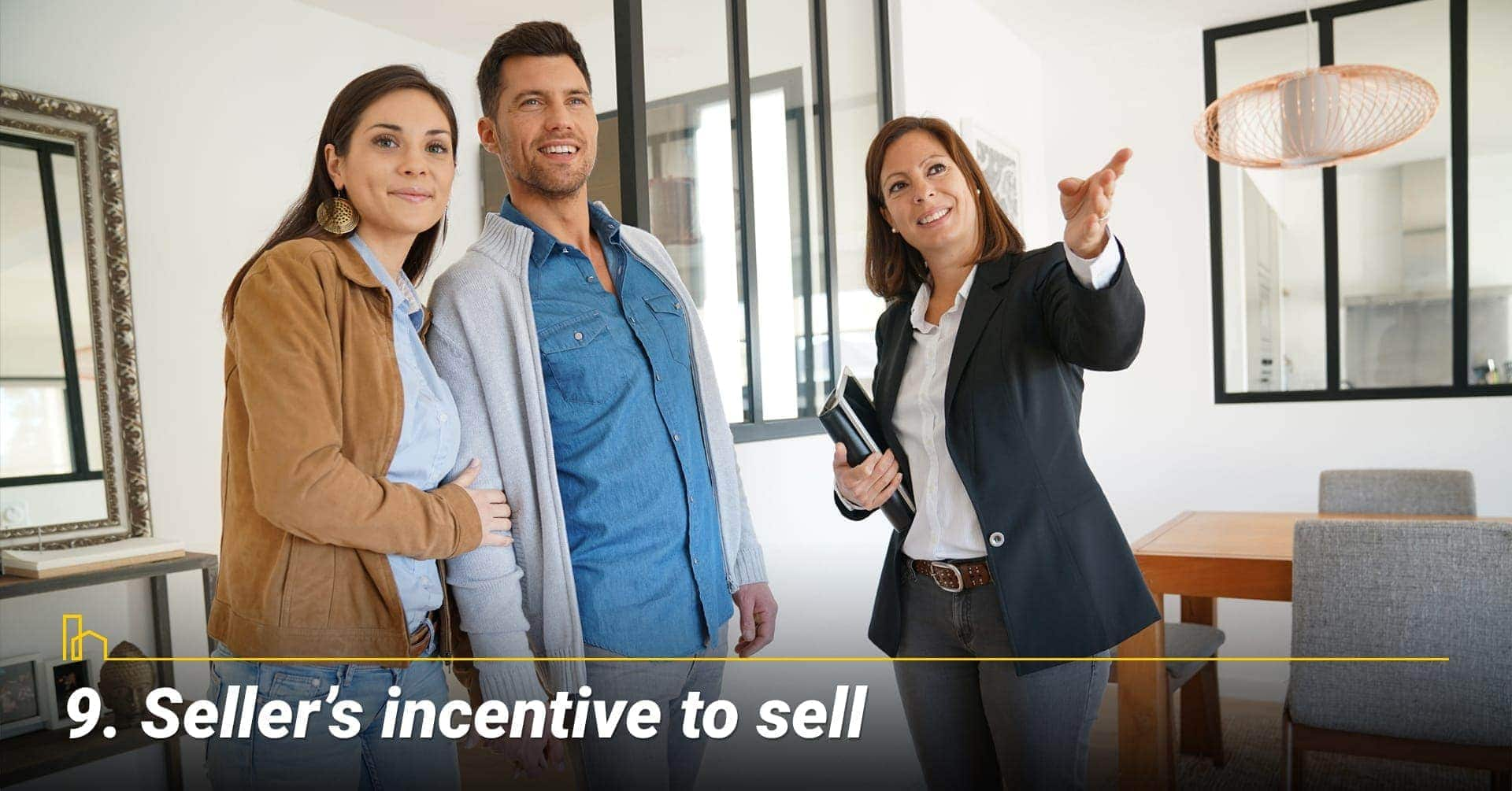 Seller's incentive to sell