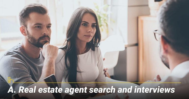 Real estate agent search and interviews, looking for professional agent