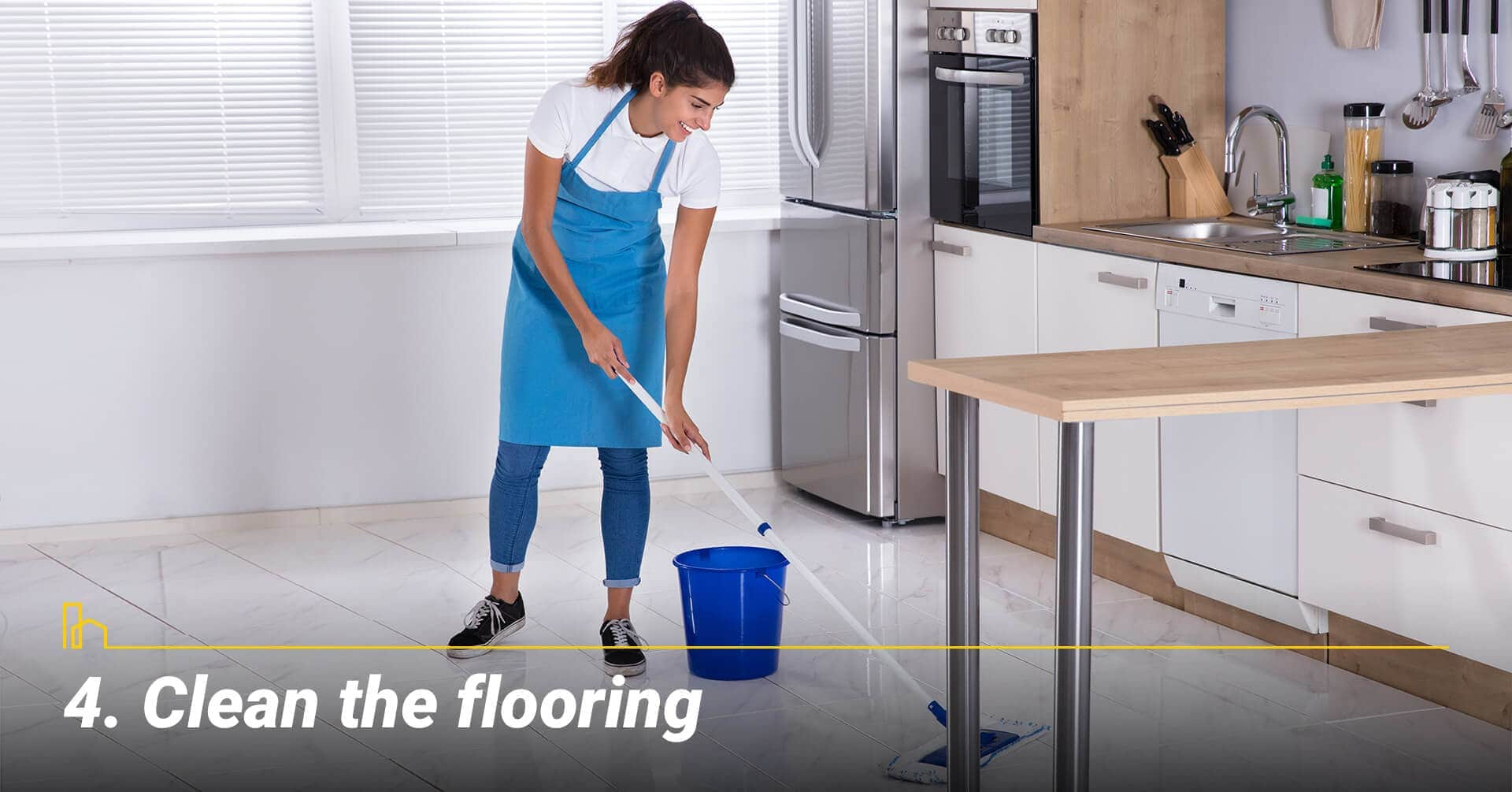 Clean the flooring, keep the floor clean
