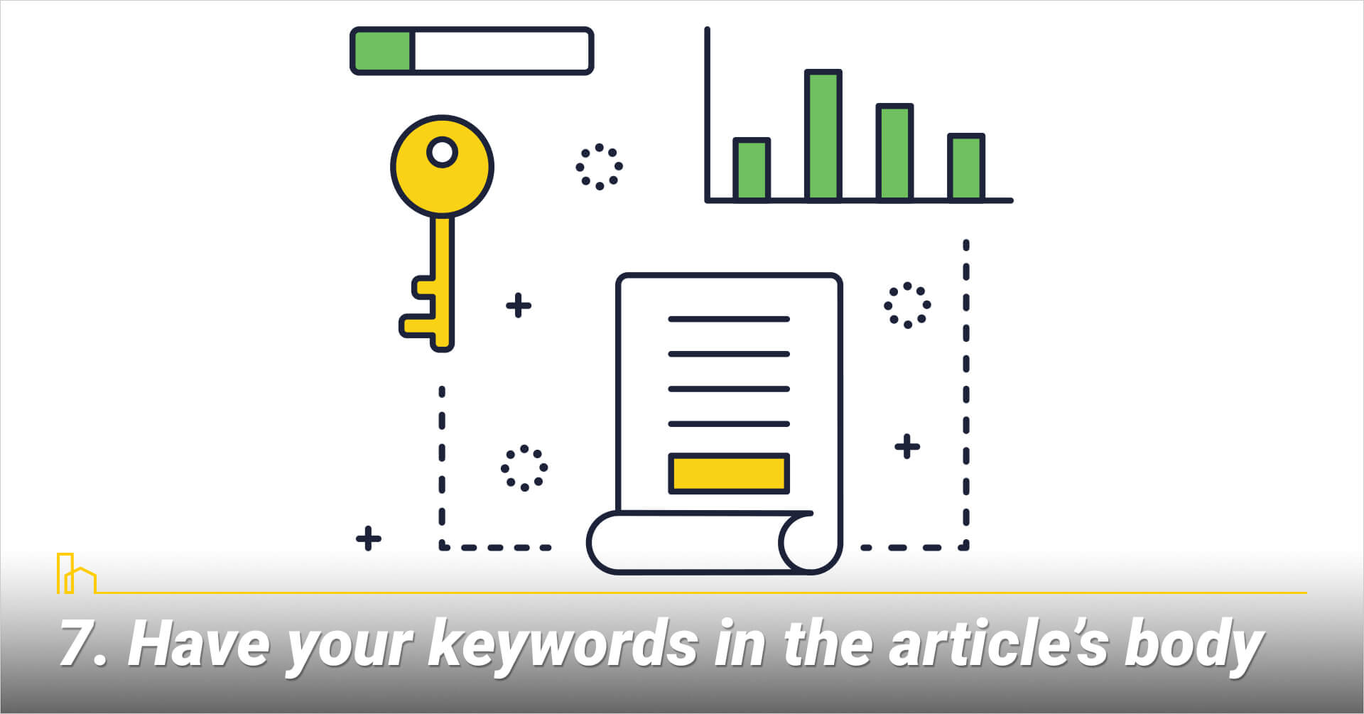 Have your keywords in the article's body