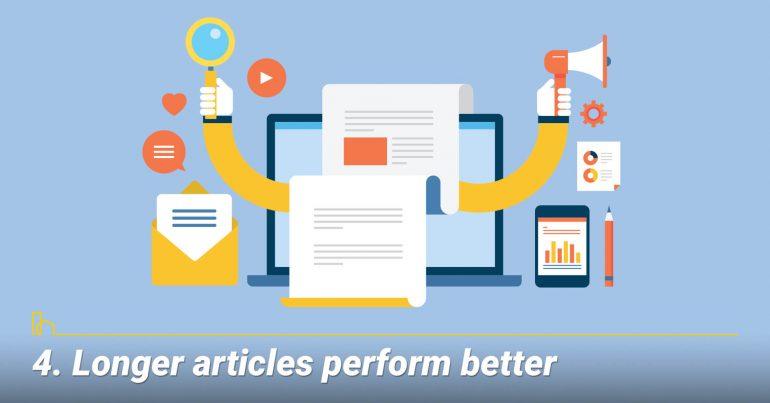 Longer articles perform better