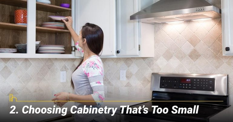 Choosing Cabinetry That's Too Small