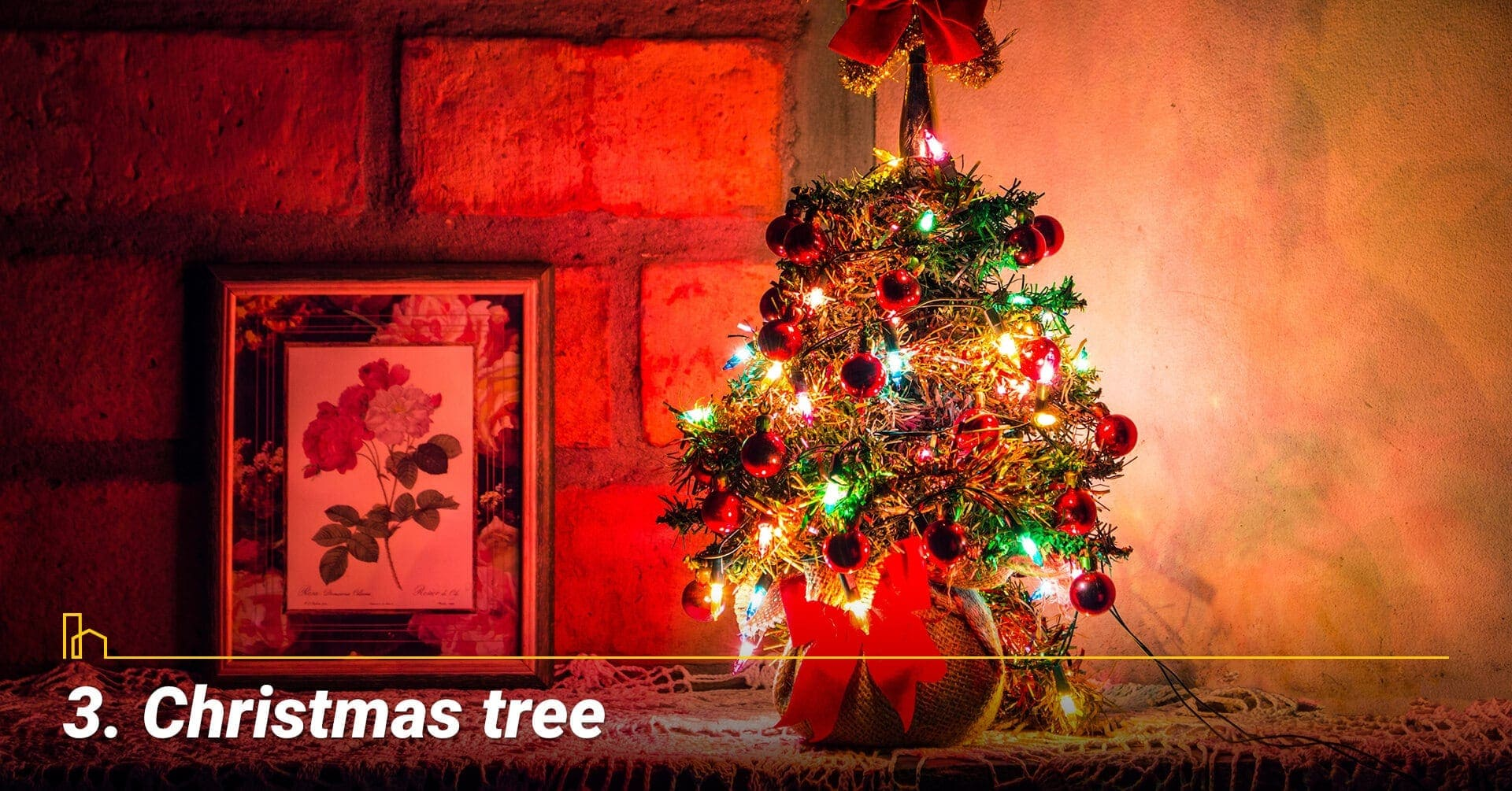 Christmas tree, decorate your home with Christmas tree