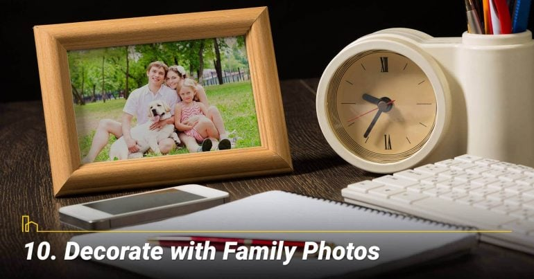 Decorate with Family Photos