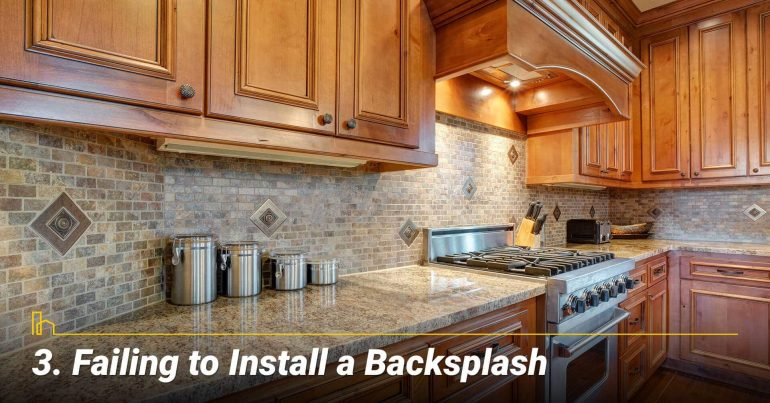 Failing to Install a Backsplash