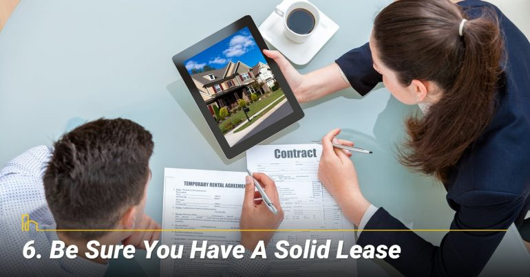 Be Sure You have a Solid Lease