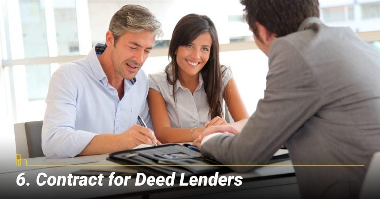 Contract for Deed Lenders