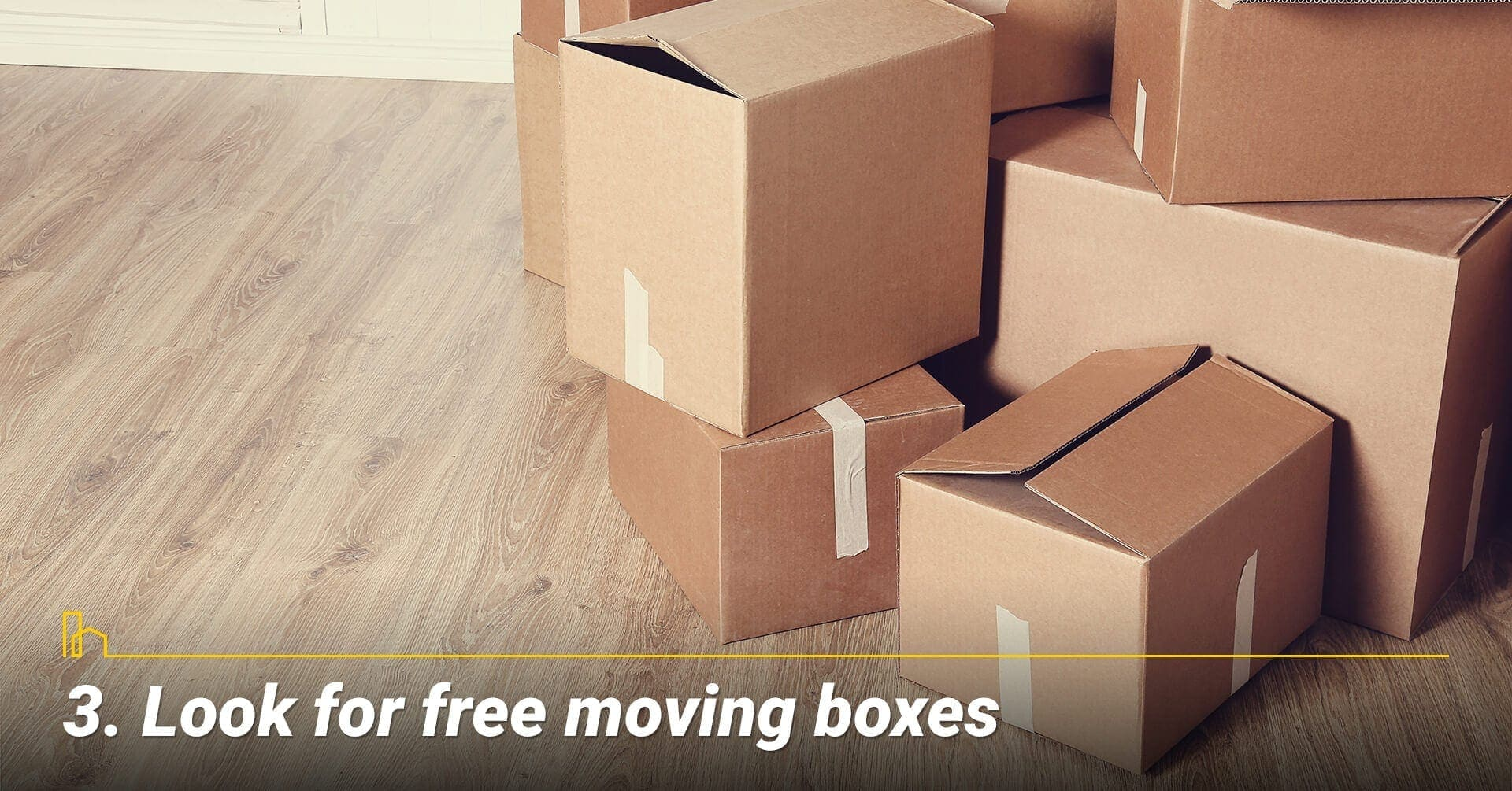 Look for free moving boxes