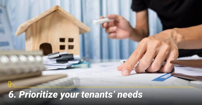 Prioritize your tenants' needs