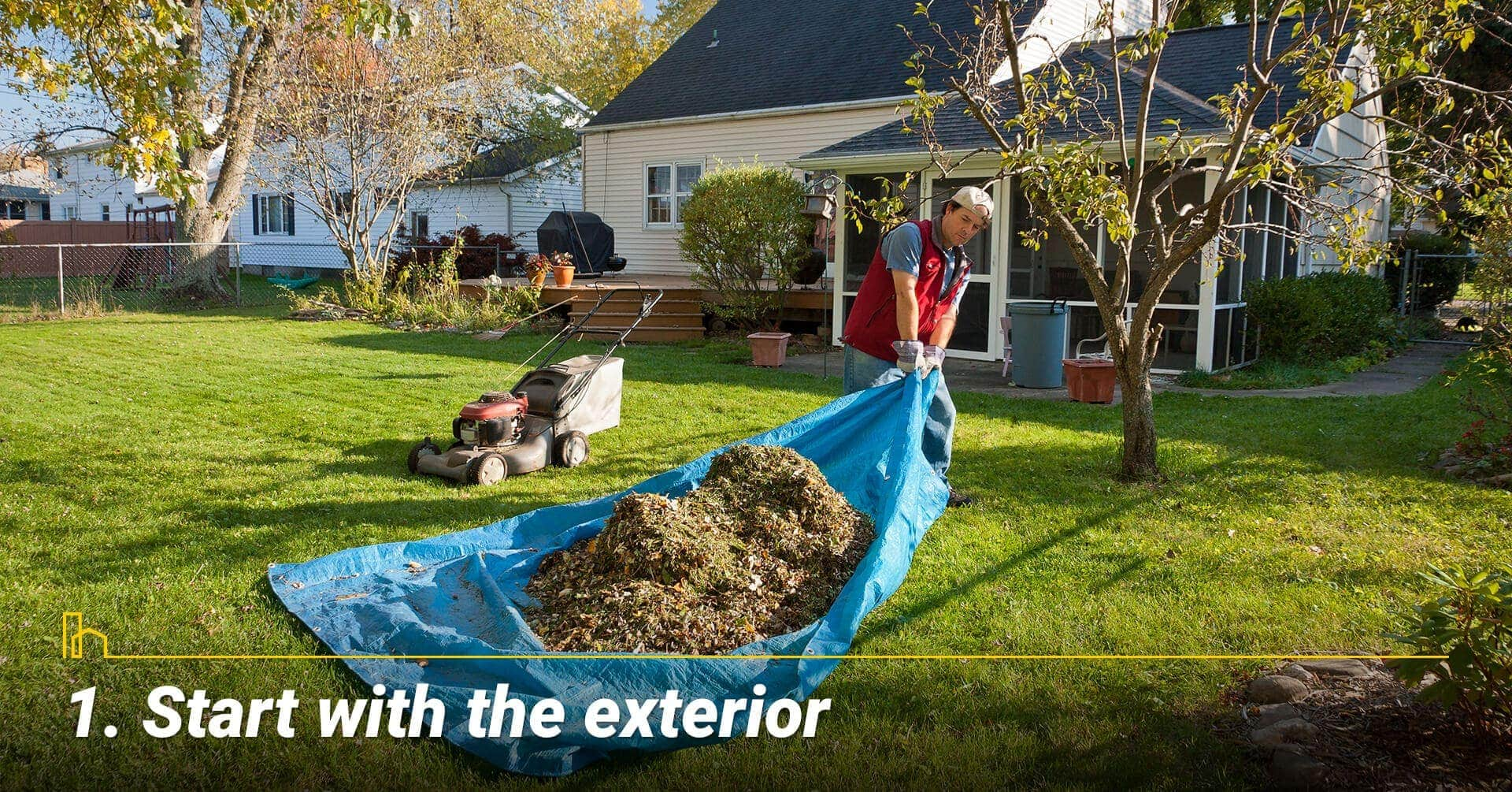 Start with the exterior, keep the exterior clean