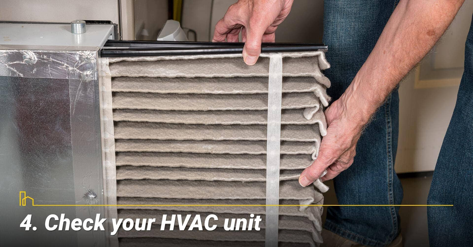 Check your HVAC unit, change your air filter