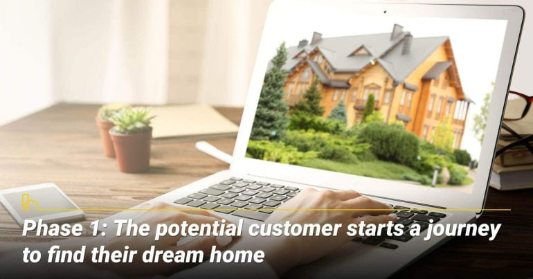 Phase 1: The potential customer starts a journey to find their dream home