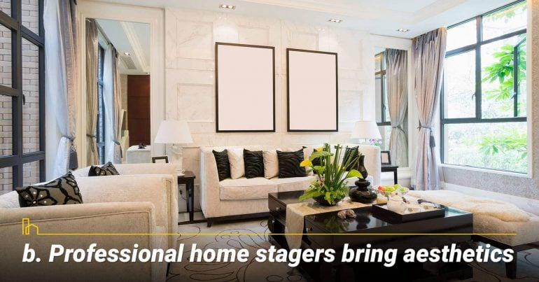 Professional home stagers bring aesthetics