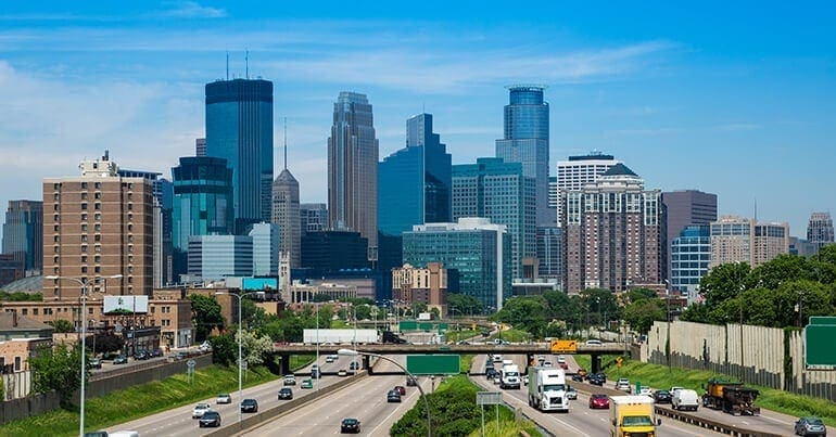 Job growth and low unemployment in Minneapolis, MN