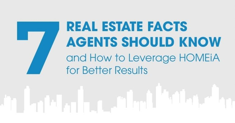 7 Real Estate Facts Agents Should Know, and How to Leverage HOMEiA for Better Results