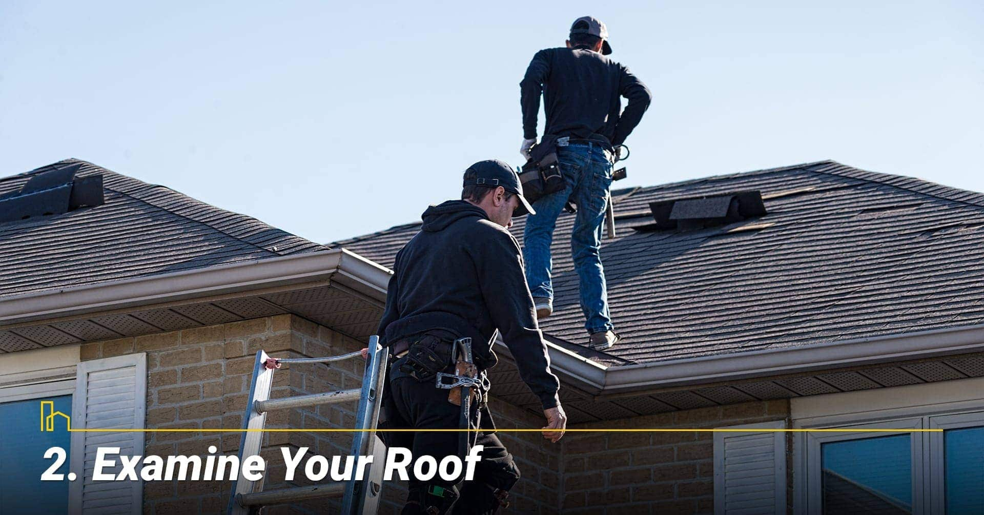 Examine Your Roof, review condition of the roof