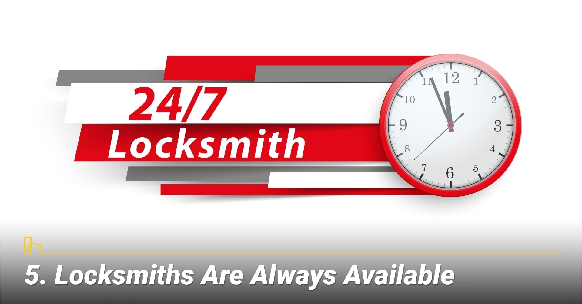 Locksmiths Are Always Available, they are available 24/7