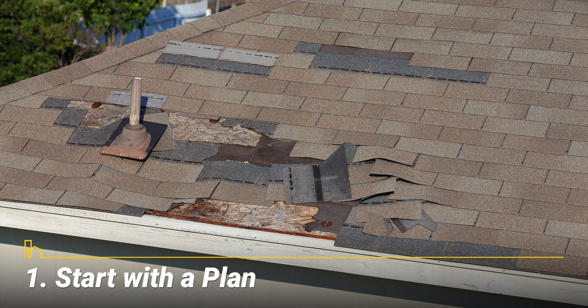 Start with a Plan, plan for a roof replacement