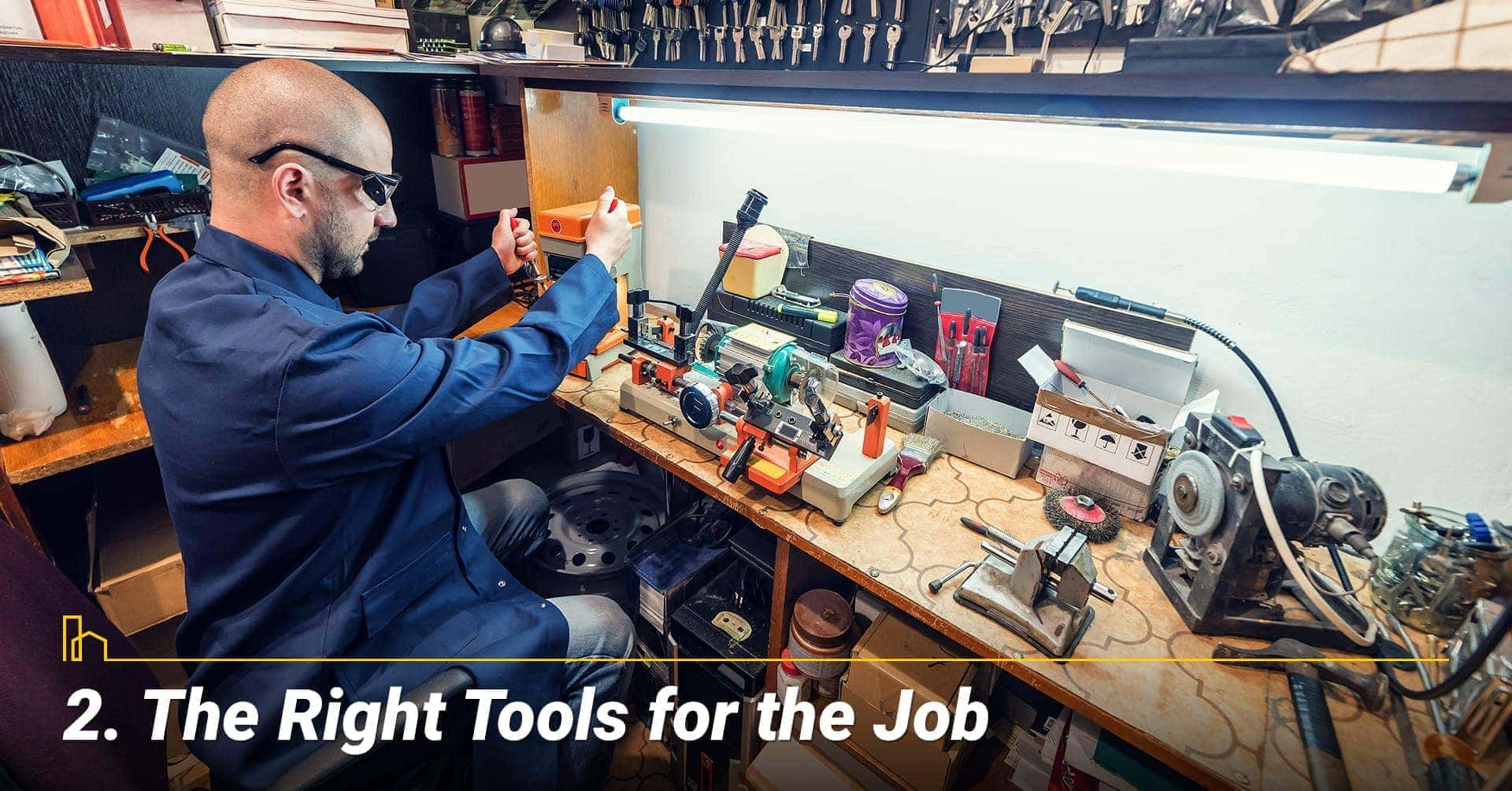 The Right Tools for the Job, they have the right tool to get the job done