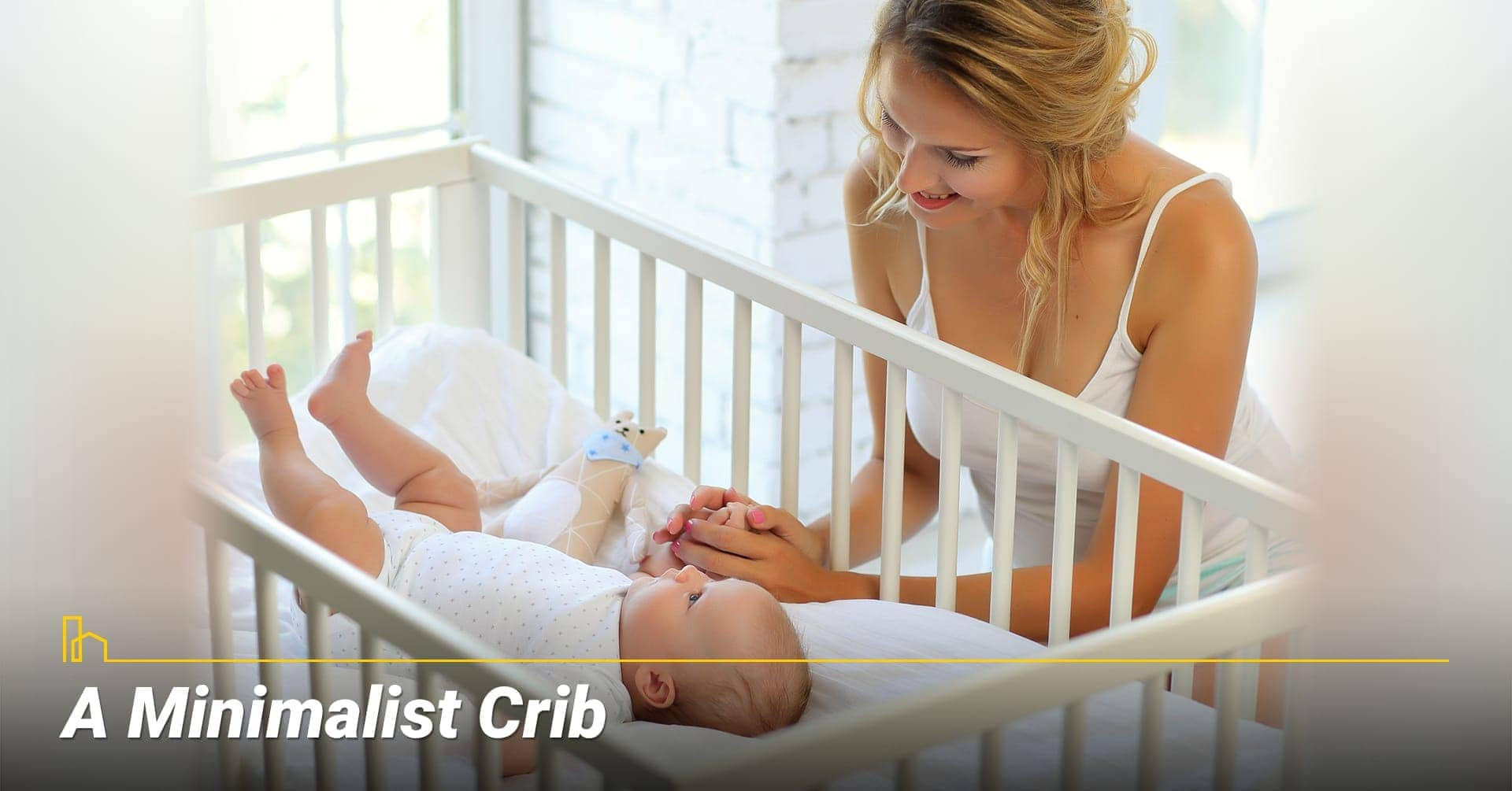 A Minimalist Crib, keep baby crib to the minimal