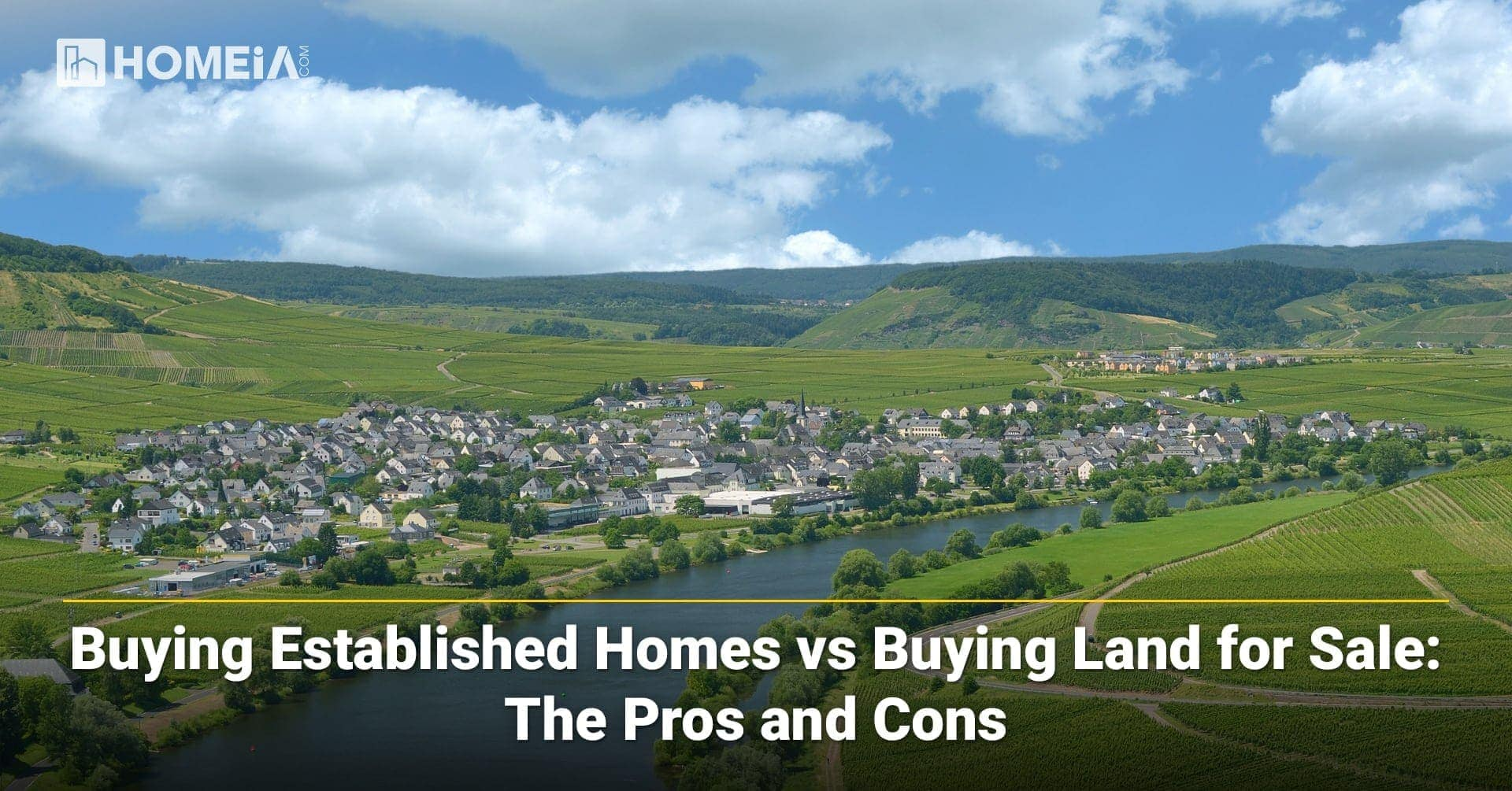 Buying Established Homes vs. Buying Land for Sale: The Pros and Cons