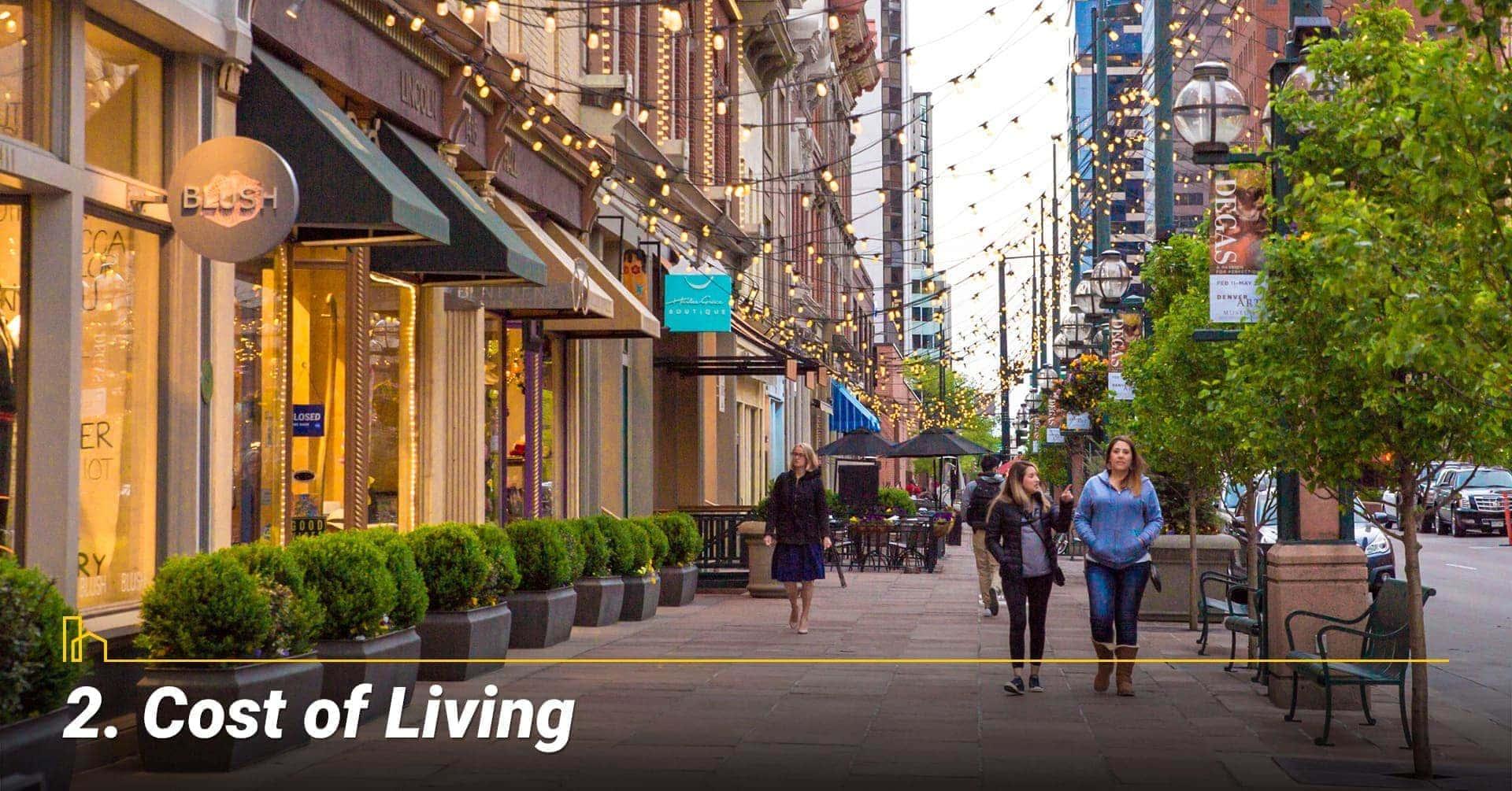 Cost of Living in Denver, Colorado