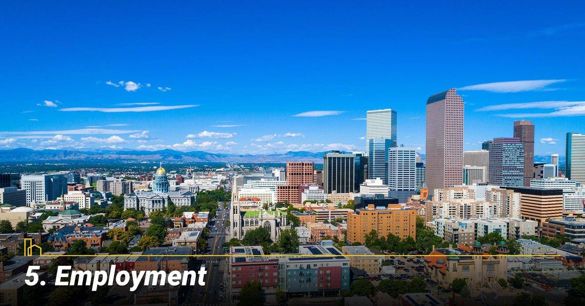 Employment in Denver, Colorado