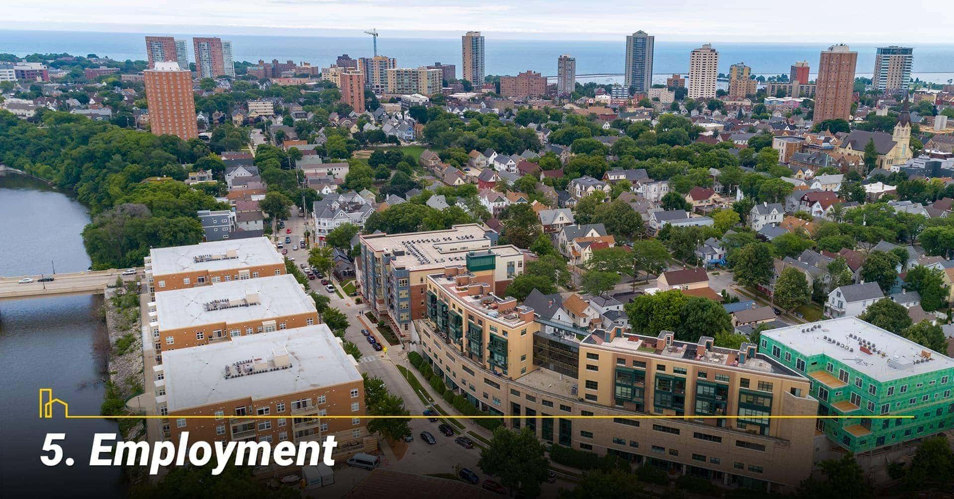 Employment in Milwaukee, WI