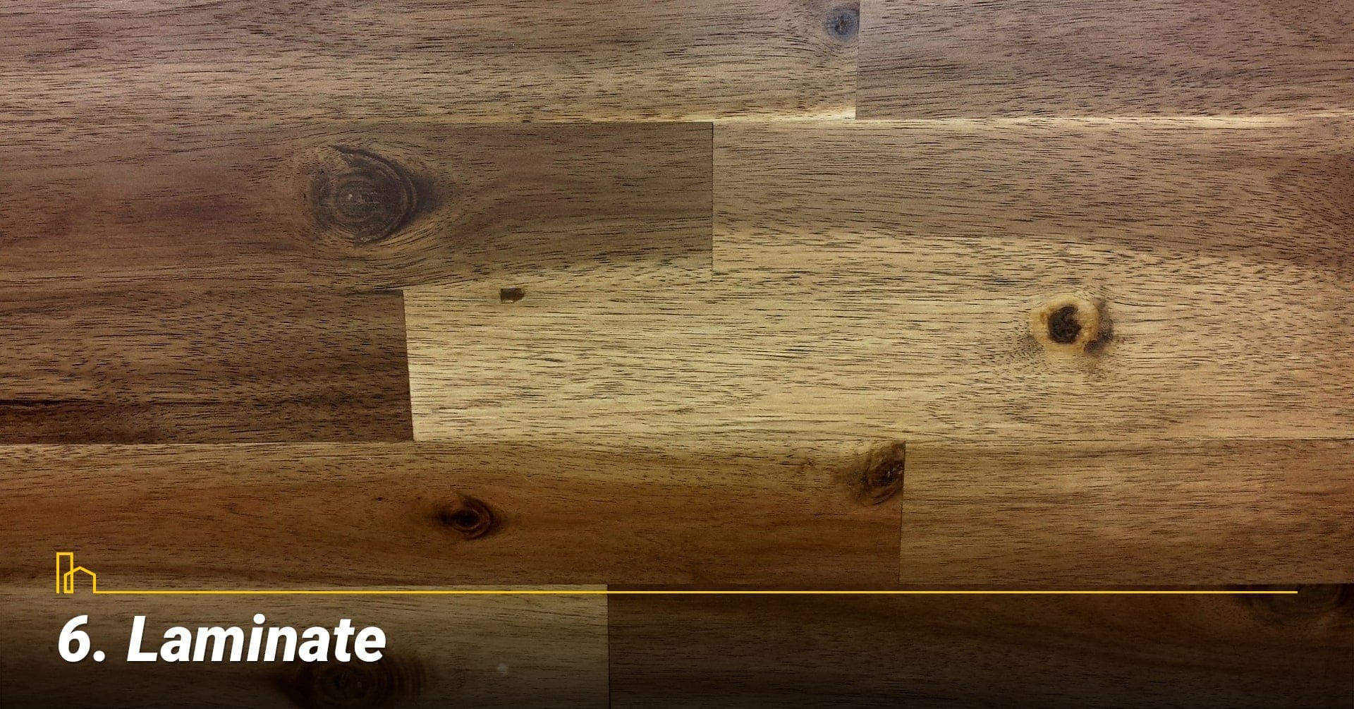 Laminate, cover your floor with laminate