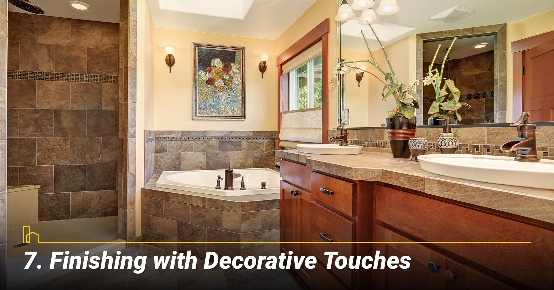 Finishing with Decorative Touches, add decorative items