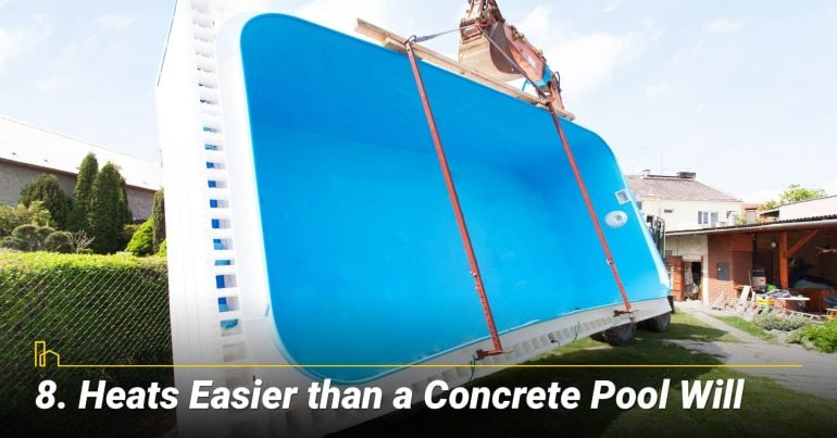 Heats Easier than a Concrete Pool Will