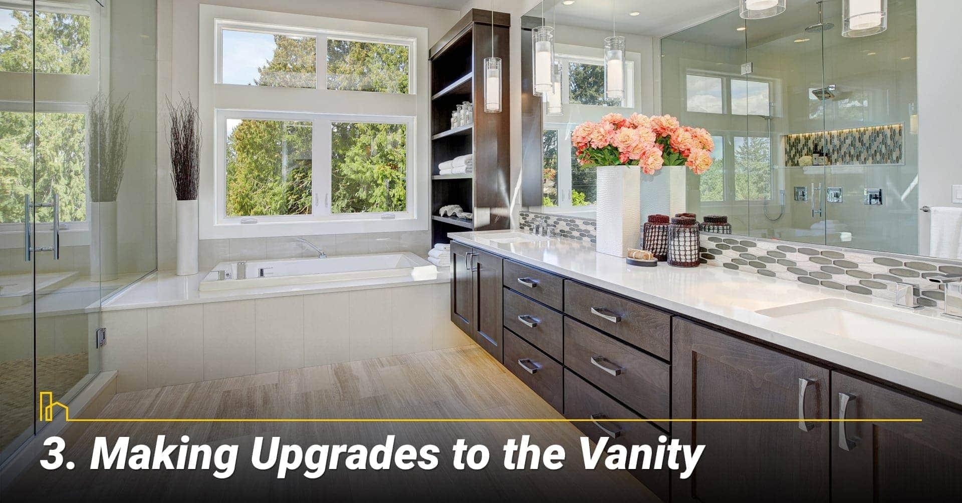 Making Upgrades to the Vanity, upgrade your bathroom with vanity