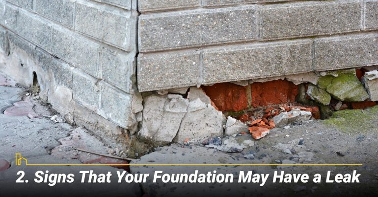 Signs That Your Foundation May Have a Leak
