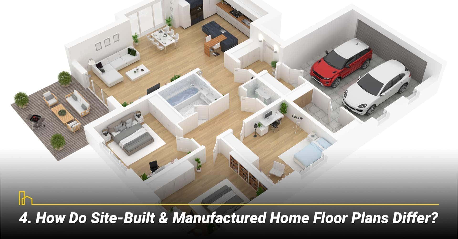How Do Site-Built & Manufactured Home Floor Plans Differ? floor plans for site-built and manufactured homes