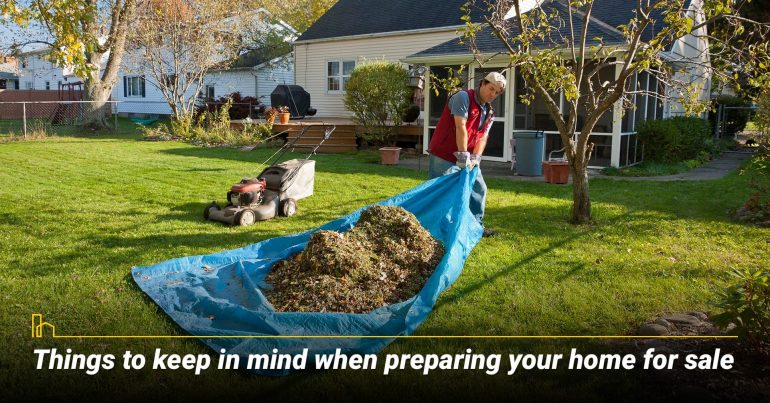 Things to keep in mind when preparing your home for sale