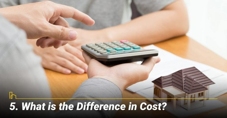 What is the Difference in Cost?