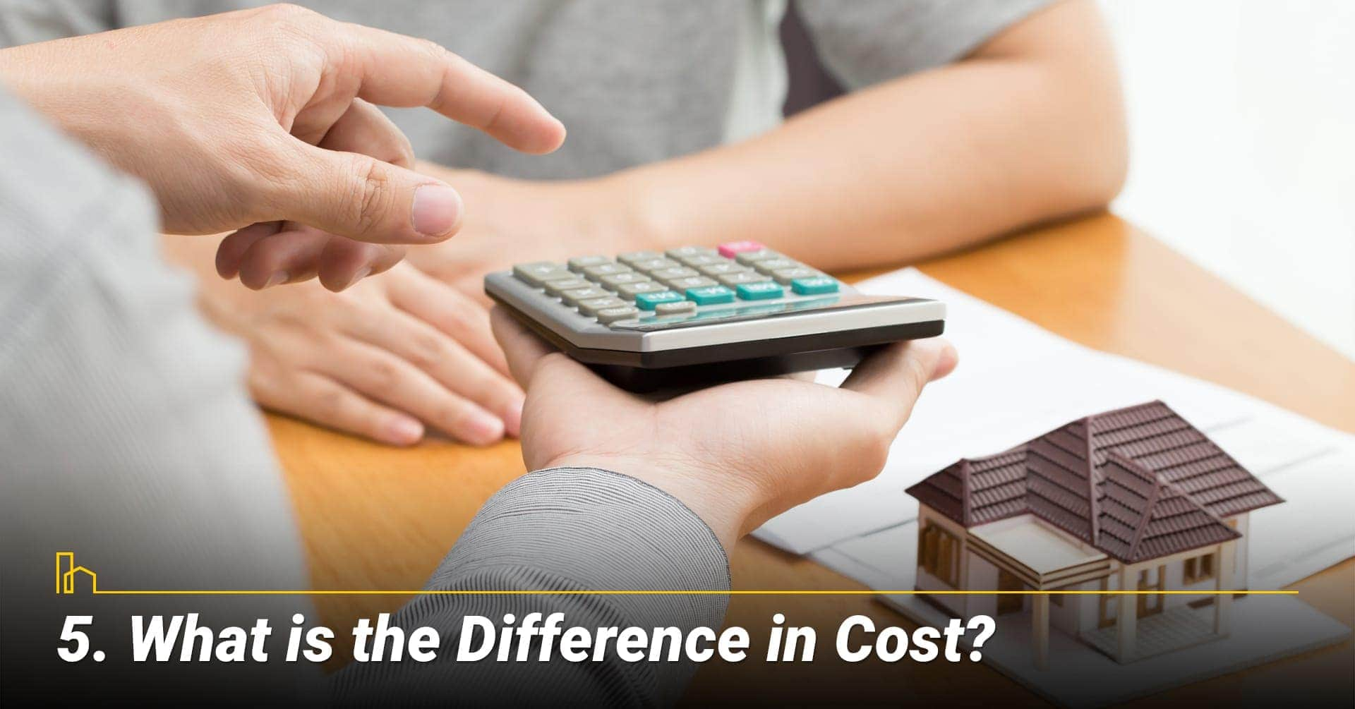 What is the Difference in Cost? costs for site-built and manufactured homes