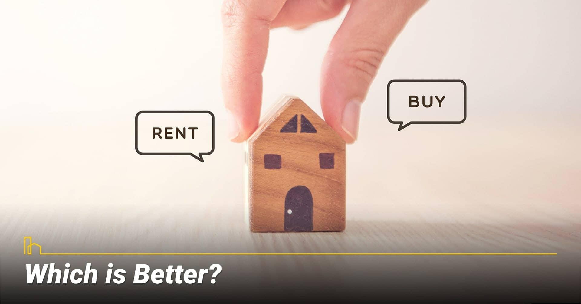 Which is Better? buy versus rent